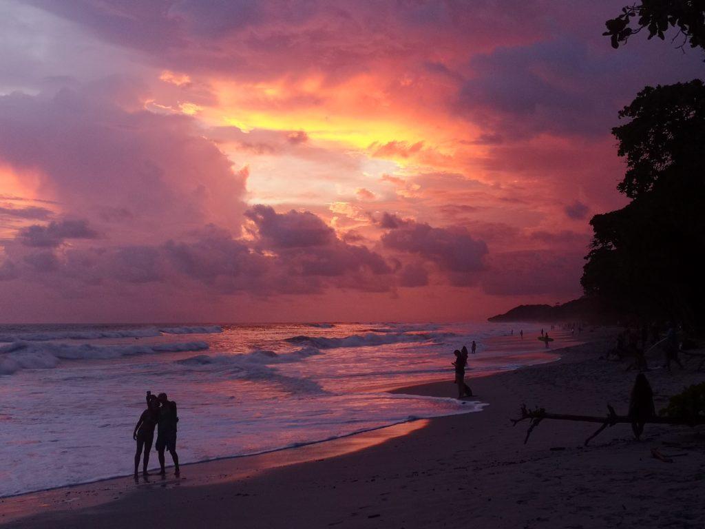 Coucher de soleil Santa Teresa, Costa Rica