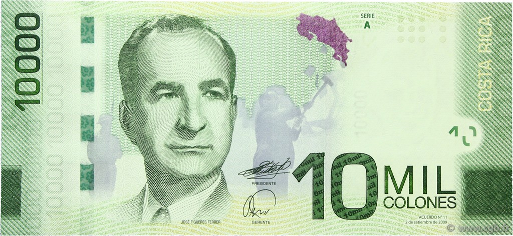 10000 colones Costa Rica