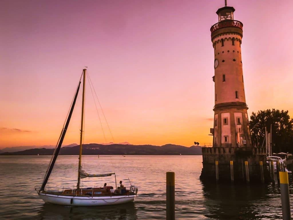 Lac de Constance coucher de soleil