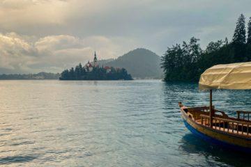 Coucher de soleil sur le Lac de Bled