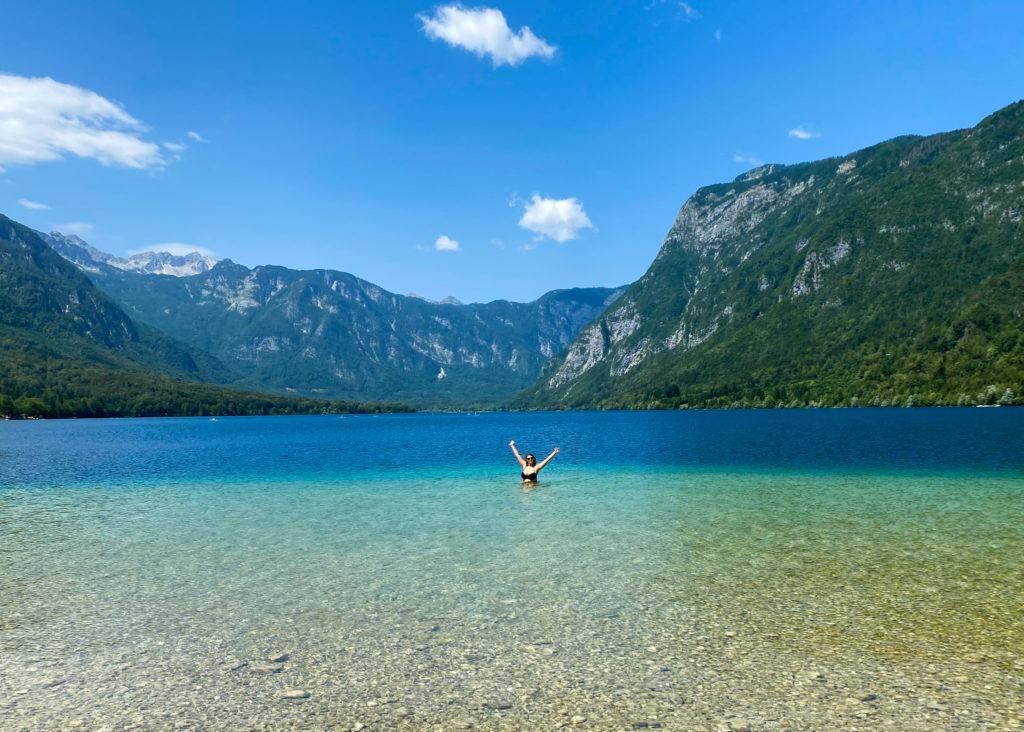 Baignade lac de Bohinj
