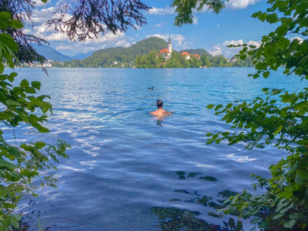 Baignade lac de Bled
